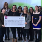 Prometric Ireland, Dundalk, who raised €2,000 to go towards the Erin's Run fund this year, which is supporting The Jack & Jill Children's Foundation in 2018, through their Social Club. Erin's Mum Tara works for the company. From left to right (Eamonn Kelly,HR Manager Prometric, Gillian Hanratty, Annmarie Agnew, Orla Conway, Tara Curran, Caroline Coombes, Claire O'Connor, Angelina Murphy, Jennette Hardy, Elaine O'Brien, all Social Club Committee Members & Brendan Gallagher, Director of Operations for Prometric in Dundalk)