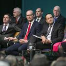 Taoiseach Leo Varadkar and ministers at the launch of the plan in Sligo IT. Photo: Kyran O'Brien