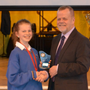 Aoife Forkin with Chairperson John Hopkins