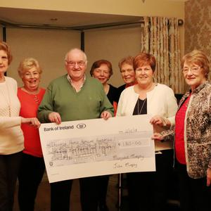 Volunteer driver Margaret Murphy with her husband John opened their house in Anneville Crescent at the end of last year to host a coffee day and raffle. This was a wonderful day attended by many friends and family members and €1865 was raised. Pictured L to R – Jennifer Hewson, Lillian Brayshaw, John Murphy, Irene McMahon, Rita Lennon, Margaret Murphy, Margaret Ahern.