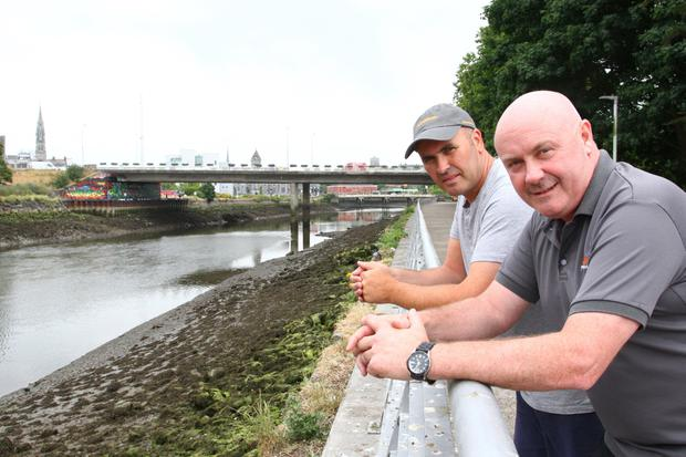 Paul Murray and Paul Reynolds, who assisted with the recovery of a man from the River Boyne