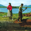 Cutting turf was a tough and warm job in years gone by