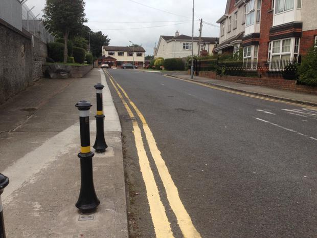 The entrance to Anneville Crescent is set to get bollards all the way into the estate to stop illegal parking.
