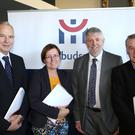 Pictured at Ombudsman seminar in Drogheda on 'How complaints can improve public services' are Louth County Councillors Oliver Tully, Maeve Yore and David Saurin with Ombudsman Peter Tyndall (second right)