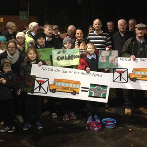 Members of the protest group meet with local councillors