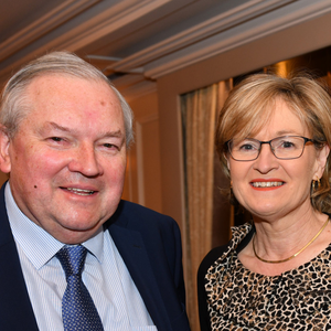 Brian Hanratty, Drogheda Chamber with MEP Mairead McGuinness at the M1 Corridor Launch held in Bellingham Castle