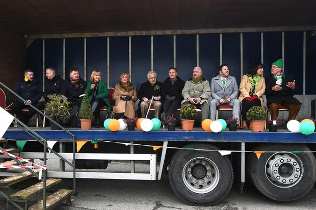 Reviewing the Ardee parade in 2018