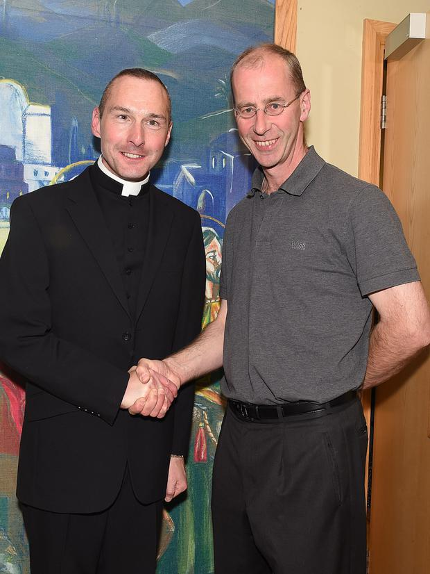 Fr Tony Gonoude and Fr David Bradley who are leaving the area