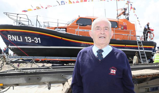 Paddy Hodgins was delighted to see the new lifeboat arrive on Sunday