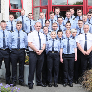 Chief Superintendent Christy Mangan and Superintendent Andrew Watters with the new Gardaí who have been stationed locally