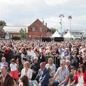 Crowds at Bolton Square for the opening ceremony