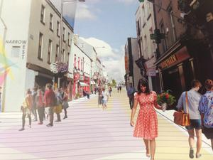 Plan for a pedestrianised Narrow West Street.