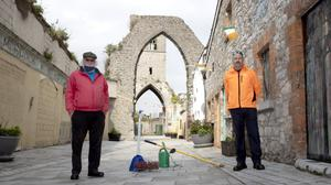 John and Eugene on duty at the Old Abbey
