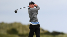 Dylan Keating tees off at the 13th at his home club Seapoint at the Flogas Irish Scratch Series