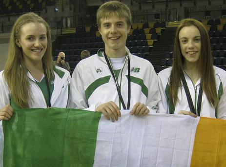 Cushinstown AC representatives (l to r) Shannon Sheehy, Keith Marks and Elizabeth Mooreland.