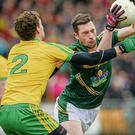 Michael Newman continued where he left off against Donegal and plundered some key scores to see Meath over the line against Laois. Oliver McVeigh/Sportsfile