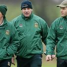 Sean Kelly (centre) with fellow Meath selector Trevor Giles (left) and manager Mick O'Dowd.