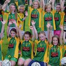Duleek/Bellewstown's Under-10 girls squad in their new jerseys.