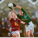 4 January 2015; Damien Carroll, Meath, in action against Damien Dolan, Westmeath. Bord na Mona O'Byrne Cup, Group C, Round 1, Westmeath v Meath. Cusack Park, Mullingar, Co. Westmeath. Picture credit: Paul Mohan / SPORTSFILE