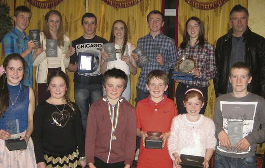 Cushinstown AC athletes with their 2013 Meath awards.