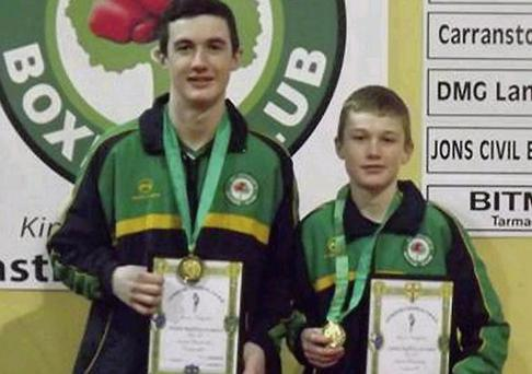 St Cianan's BC brothers Wayne (left) and Gavin Rafferty with their Leinster medals.
