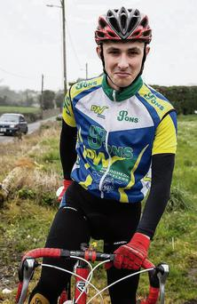 Drogheda Wheelers' Ciaran Campbell at the Harry Reynolds Memorial Races.