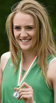 Shannon Sheehy, Cushinstown AC, picked up silver and bronze medals at the GloHealth Juvenile Track and Field Championships in Tullamore.