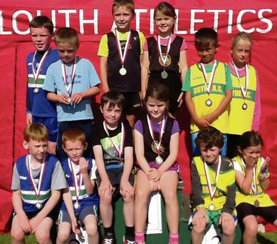 Silver for Ardee & District's Boys Under-9 relay team (left), with Boyne AC (right) in third place.