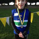 Under-9 girls winner Paulina Kelly