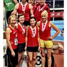 Drogheda & District's bronze medal-winning relay teams in Athlone