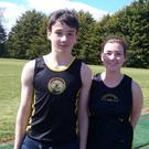Javelin medallists Liam and Niamh Connaughton.