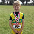 Oliver Carolan with his four gold medals from the Louth Championships
