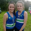 Under-15 silver medallist Abbie Sheridan with her Ardee & District clubmate Eimear Clare