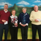Greenhills doubles finalists John Hurley and Anna Farrell, with overall winners Aileen Fitzgerald and Jimmy Flood