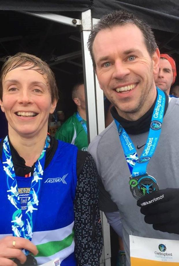 Ardee & District AC's Ben Corcoran and Róisín Whyte in great form after running the Carlingford 10k