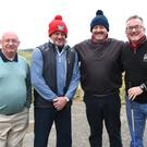 Tom Upton, Colin Pentony, Mark Briscoe and Jim Nolan at the Seapoint Golf Club Fundraiser at Termonfeckin. Photo: Jimmy Weldon