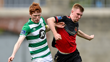 Mark Doyle, scorer of two goals at UCD last Friday night, was set to renew battle with Darragh Nugent of Shamrock Rovers II at United Park on Tuesday (22nd)