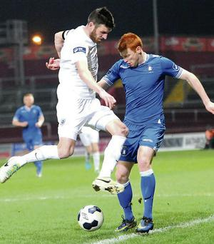 Gavin Brennan makes his presence felt in Thomond Park.