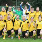 Boyne Rovers Ladies celebrate after qualifying for the FAI Intermediate Cup Final. Picture:Paul Connor