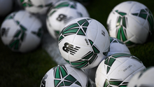 6 September 2019; Match balls are seen at Tallaght Stadium prior to the UEFA European U21 Championship Qualifier Group 1 match between Republic of Ireland and Armenia at Tallaght Stadium in Tallaght, Dublin. Photo by Stephen McCarthy/Sportsfile