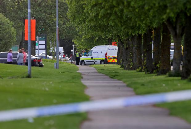 Gardaí at the scene of an armed siege at the Whitechapel estste near Blanchardstown. Photo: Frank McGrath