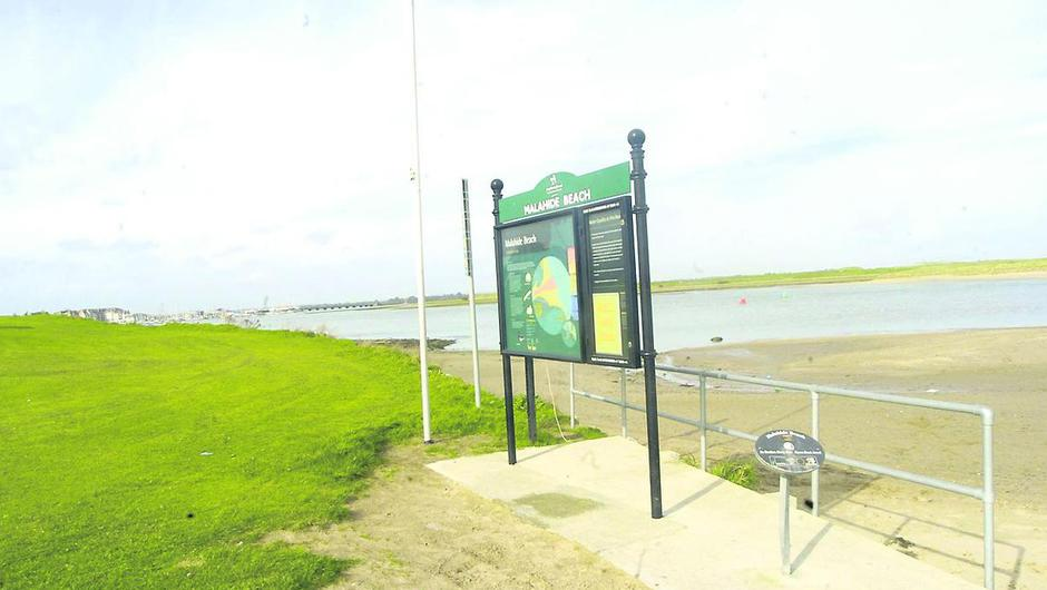 Malahide beach is one of the swimming locations closed