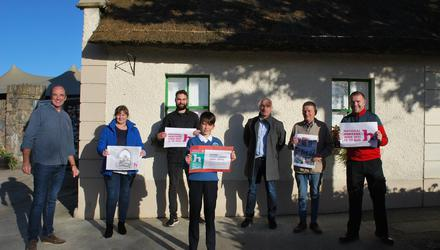 Some of Naul Community Council's 'Heritage Heroes' at the Seamus Ennis Arts Centre in Naul