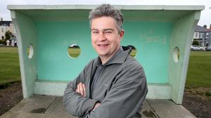 Councillor Damian O'Farrell pictured at one of the shelters on the seafront in Clontarf. Pic: Frank McGrath