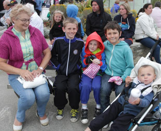 At the opening of the Kilmore Seafood Festival on Thursday evening were Mary Doyle, Nicholas Culleton, Evan Culleton, Launs Doyle and Maxx Doyle