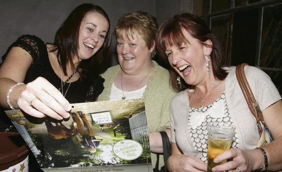 Lorraine Corish, Vera Armstrong and Lilly Warren at the launch of 'The Model Farmers 2014 Calender' in T Morris, Wexford.