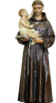 Donated statue of St Anthony