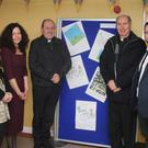 Musical director Joanne McCabe, school principal, Oona Rackard; chairman Board of Management, Fr. John Byrne; Bishop Denis Brennan and CD co-ordinator, Gearoid McCauley
