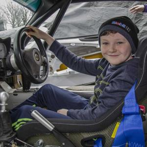 James Whitty, from Taghmon, behind the wheel of a Lotus Elise