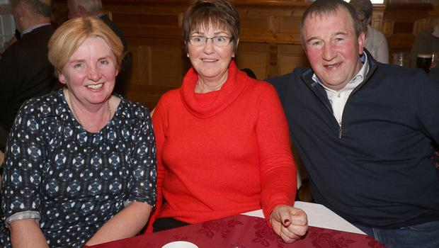 Mary Doyle and Kathleen and Martin O'Connor at The Ballagh Senior Citizens' Party in Bob's Bar, The Ballagh
